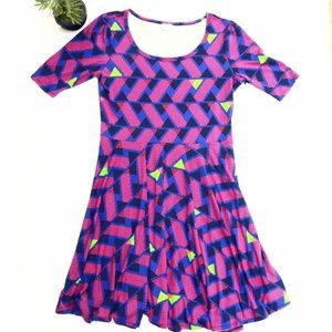 NWOT Geometric Lularoe Nicole Dress